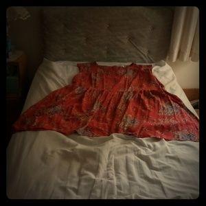Orange Floral Minidress Modcloth